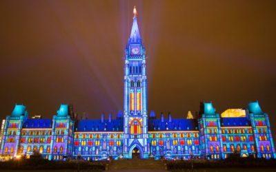 Северное сияние в центре Канады